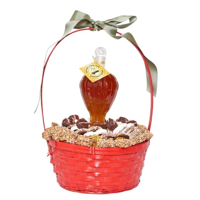 Red Apple Chocolate and Honey Gift Basket