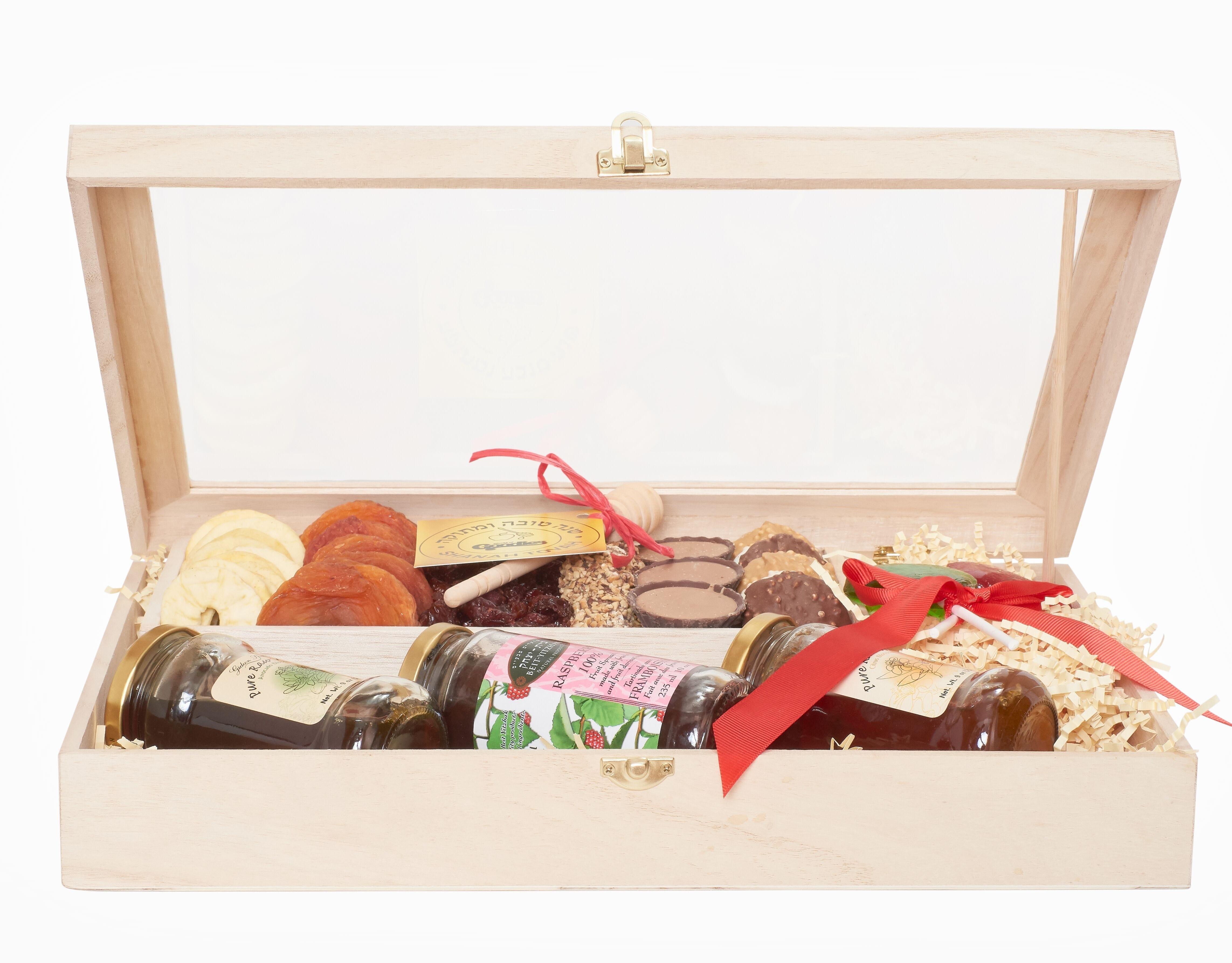 Classic Rosh Hashanah Chocolate and Honey Gift Set