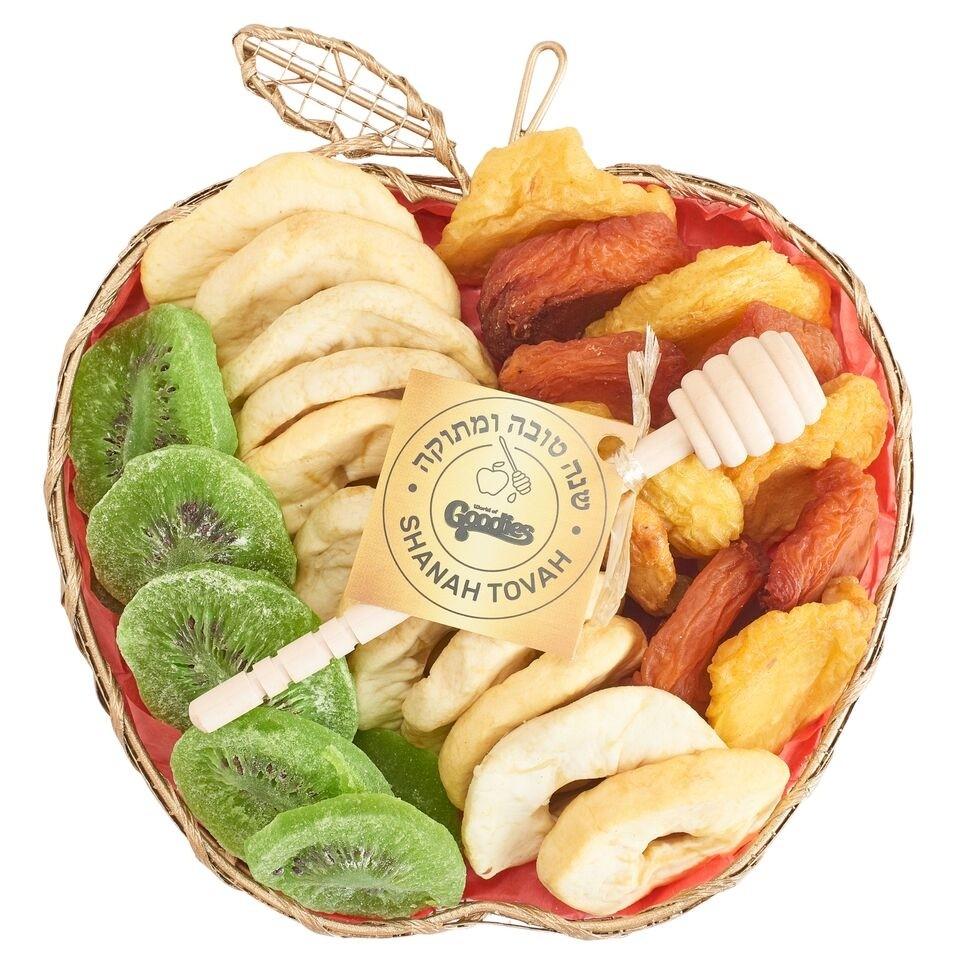 Mesh Apple Rosh Hashana Dried Fruit Gift Basket