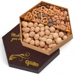 Signature Pretzel and Nuts Sectional Gift Box