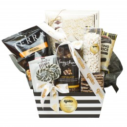 BLACK AND WHITE CLASSY PURIM BASKET