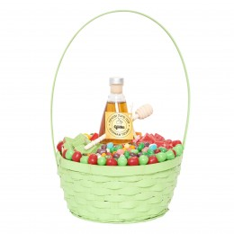 Green Apple and Honey Goodies Gift Basket