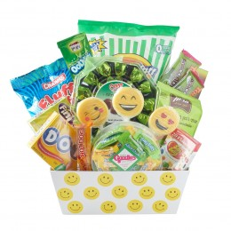 Happy Face Chocolate Candy gift basket box - Great gift for purim, Birthday, Get Well, Thank You, Congratulations, or for any occasion for family, friends or business client customer.