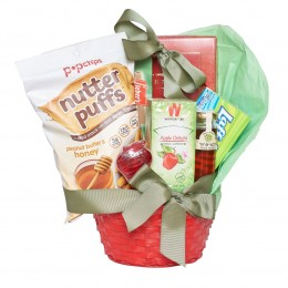 Red Apple and Honey Rosh Hashana Gift Basket