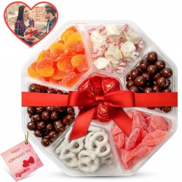 VALENTINES DAY 7 SECTION GOODIES TRAY