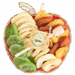 Mesh Apple Rosh Hashana Dried Fruit Gift Basket