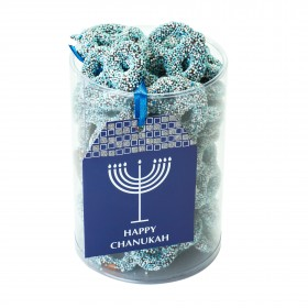 HAPPY CHANUKAH CHOCOLATE PRETZEL CYLINDER