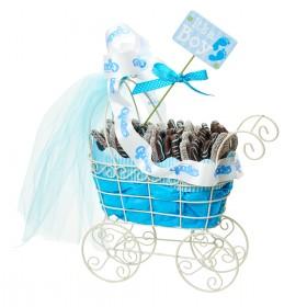Chocolate Covered Pretzels in Baby Boy Stroller