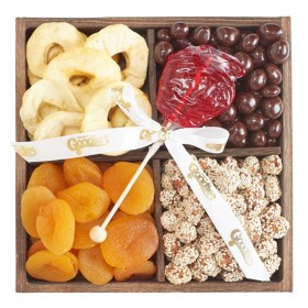 Rosh Hashana Four Section Wooden Gift Box